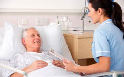 Compañía en el hospital con annima